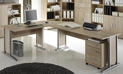 buerotisch office line winkelkombination eckschreibtisch eiche sonoma - Bürotisch Office Line Winkelkombination Eckschreibtisch Eiche Sonoma