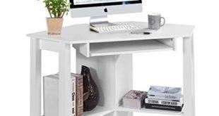 41MhiSsC4ZL 310x165 - COSTWAY Schreibtisch Computerschreibtisch Computertisch Eckschreibtisch Winkelschreibtisch Bürotisch Corner Table Ecktisch Arbeitstisch Tastaturauszug 120 x 60 x 76,5cm (Weiß)