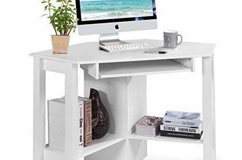 41MhiSsC4ZL 500x330 - COSTWAY Schreibtisch Computerschreibtisch Computertisch Eckschreibtisch Winkelschreibtisch Bürotisch Corner Table Ecktisch Arbeitstisch Tastaturauszug 120 x 60 x 76,5cm (Weiß)