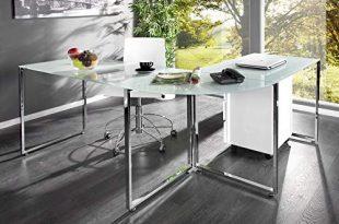 Invicta Interior Eck Schreibtisch Big Deal Glas weiss Buerotisch Schreibtisch Tisch 310x205 - Invicta Interior Eck-Schreibtisch Big Deal Glas weiß Bürotisch Schreibtisch Tisch Glastisch